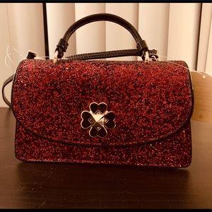 Kate Spade Red Glitter Crossbody Bag
